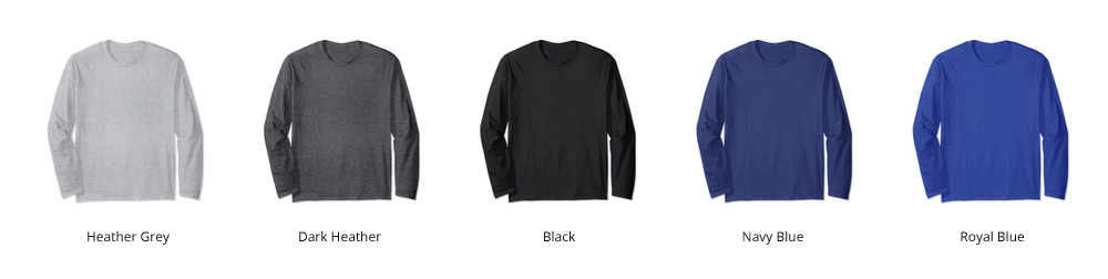 Image of our available Longsleeve Shirt Colors